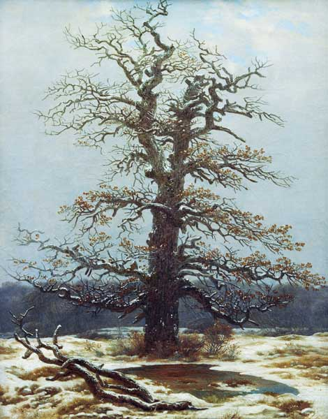 Caspar David Friedrich  chene_neige