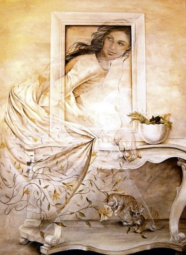 Chelìn Sanjuan 1967 - Spanish Magical Realism painter - Tutt'Art@ (25)