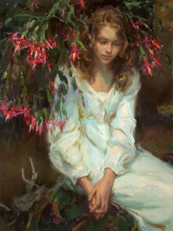 Daniel F. Gerhartz - Ladies and flowers  -   (38) [1280x768]