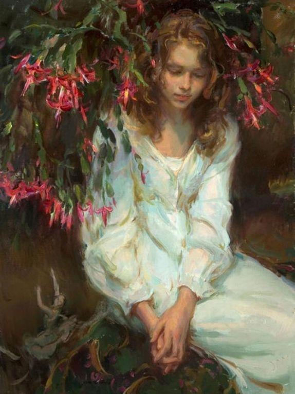 Daniel F. Gerhartz - Ladies and flowers  -   (38) [1280x768]