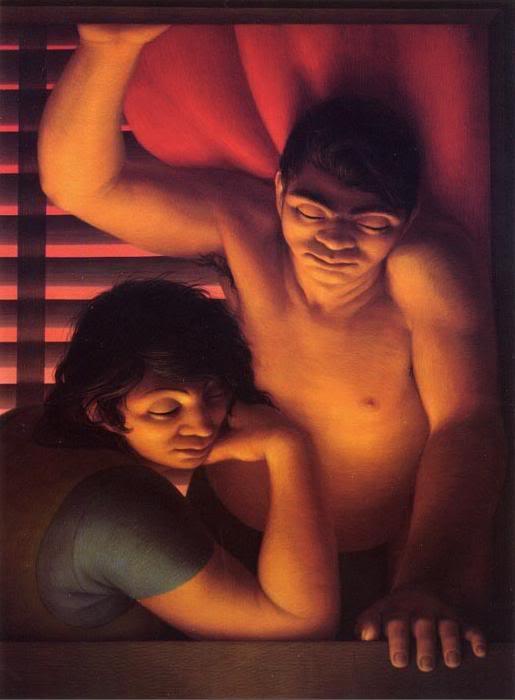 George Clair Tooker 1920-2011 - American Magic Realist painter - Tutt'Art@ (40)