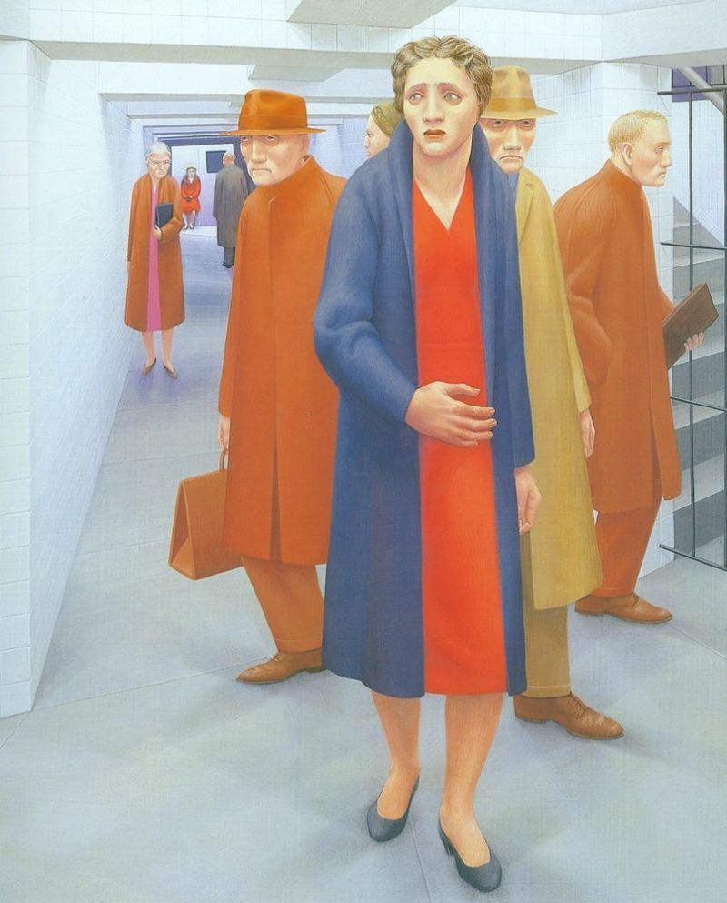 George Clair Tooker 1920-2011 - American Magic Realist painter - Tutt'Art@ (41)