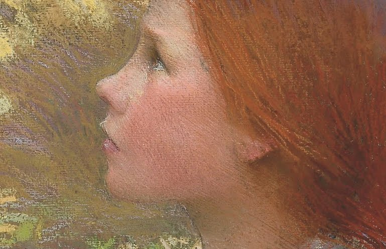 George Clausen _Headofayounggirl_detail