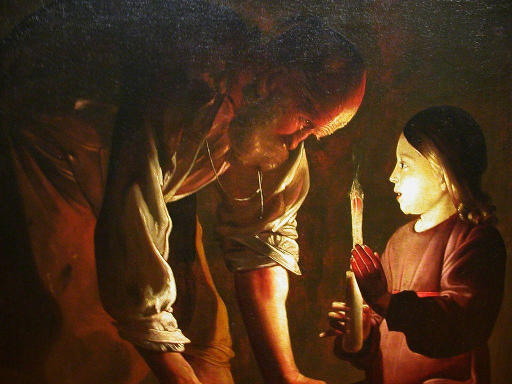 Georges de La Tour – Saint Joseph charpentier [1280×768] | Arbrealettres