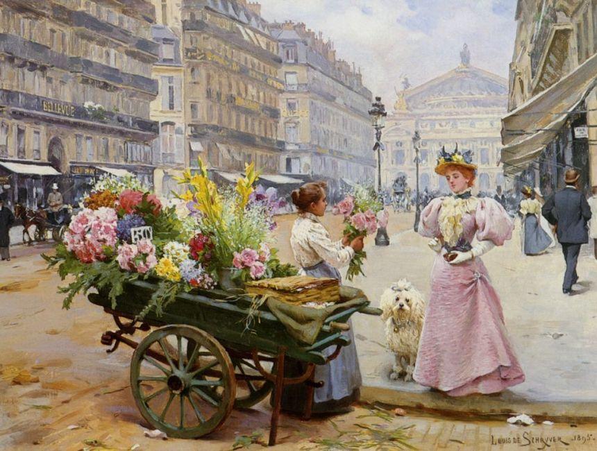 Louis Marie de Schryver (1862-1942) Marie de la Marchande des Fleurs [1280x768]