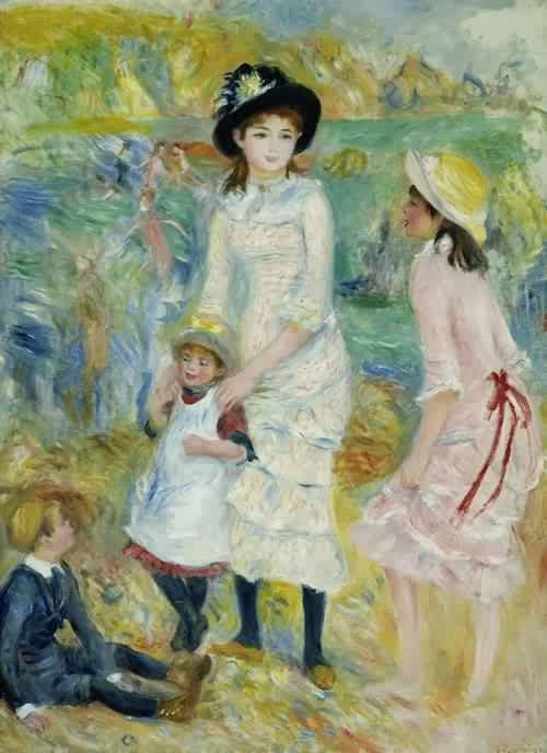 Pierre Auguste Renoir (1841-1919)  Children on the Seashore Guernsey 1883