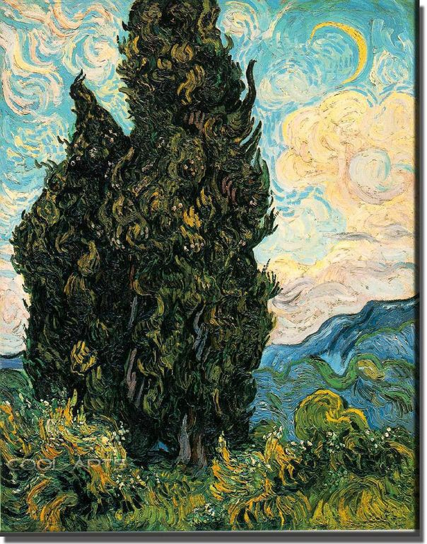 Vincent Van Gogh  Cyprès 93 [1280x768]