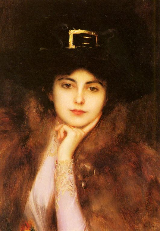 Albert Lynch _Portrait_Of_An_Elegant_Lady [1280x768]