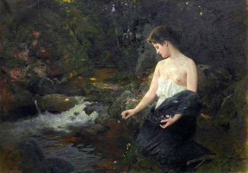 Albert Ritzberger young-woman-at-the-brook