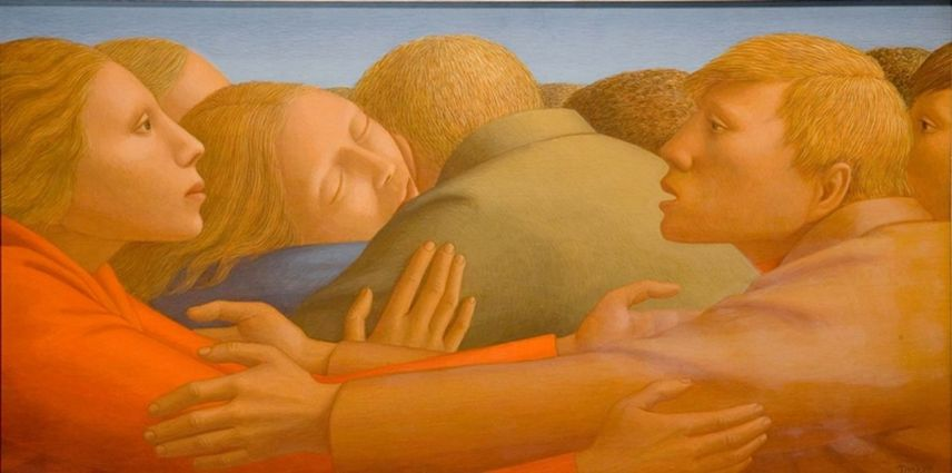George Clair Tooker 1920-2011 - American Magic Realist painter - Tutt'Art@ (11) [1280x768]