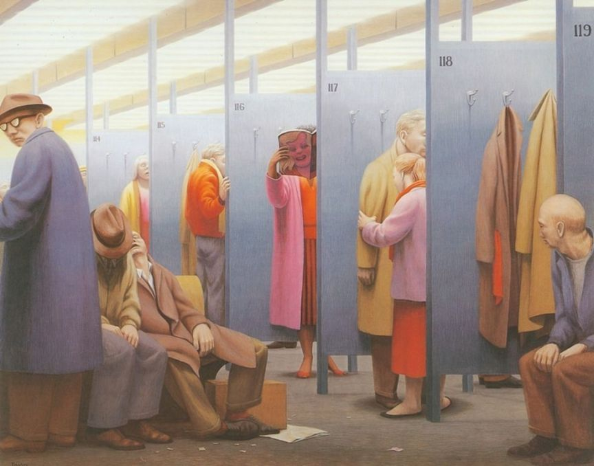 George Clair Tooker 1920-2011 - American Magic Realist painter - Tutt'Art@ (19) [1280x768]