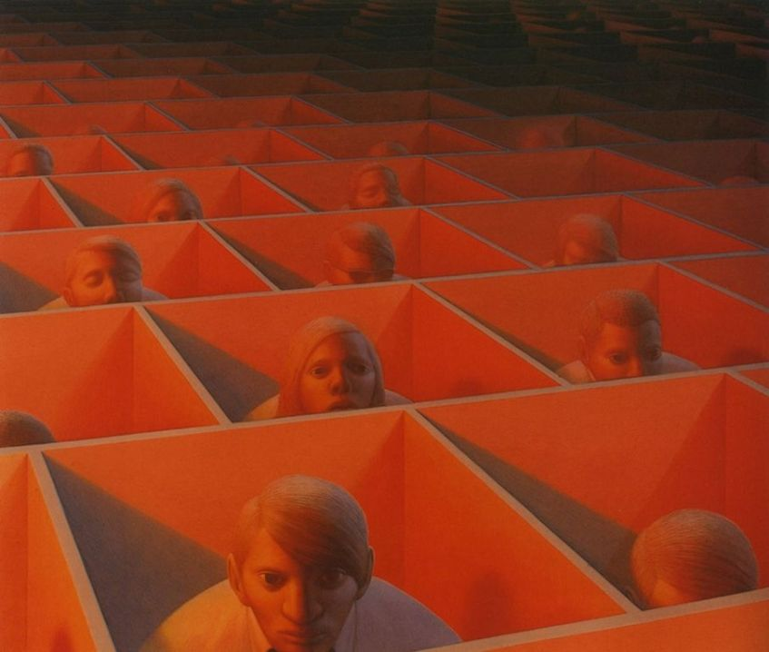 George Clair Tooker 1920-2011 - American Magic Realist painter - Tutt'Art@ (24) [1280x768]