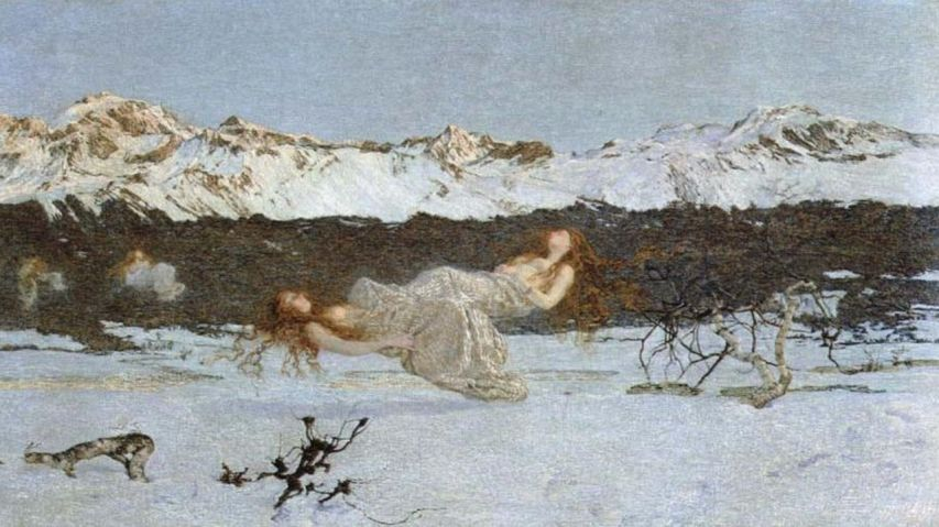 Giovanni Segantini segantini the punisment of lust via johnwilliamwaterhouse.org [1280x768] [1280x768]