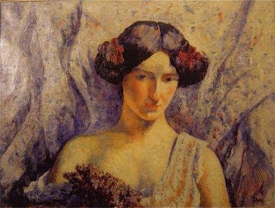 Louise Georgette Agutte Femme au Bouquet de Lilas (1910-12)
