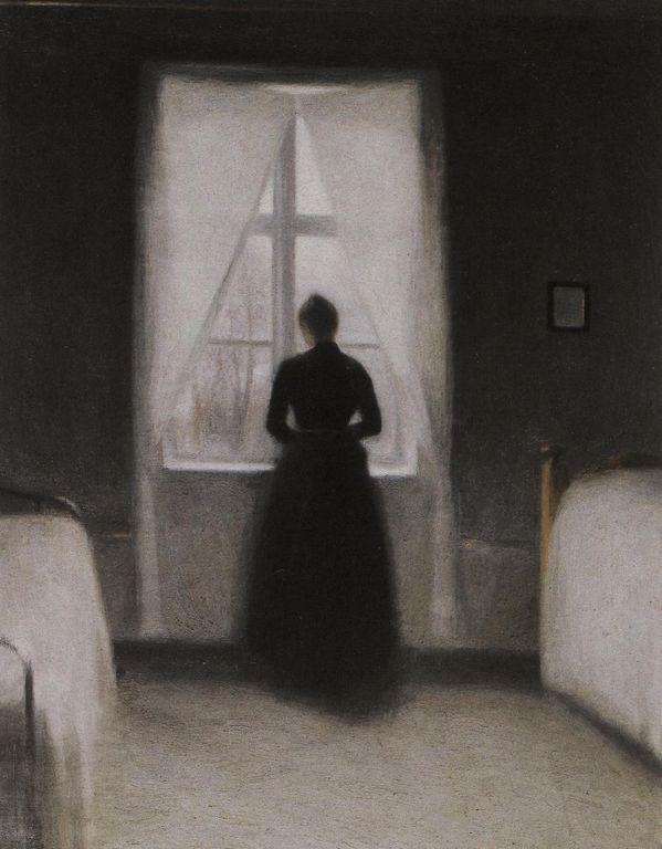 Wilhelm Hammershoi - bedroom [1280x768]