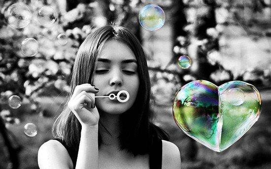 coeurs bulles de savon