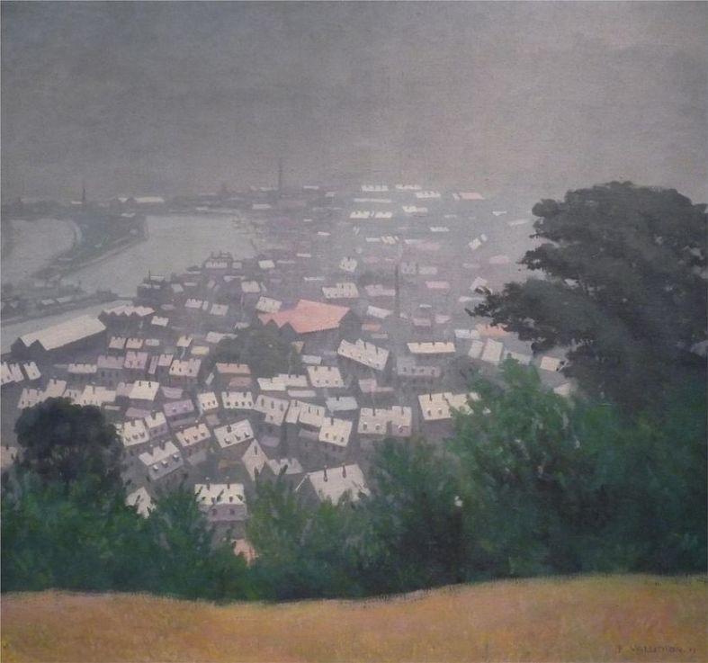 Félix Vallotton honfleur-in-the-mist-1911.jpg!HD [1280x768]