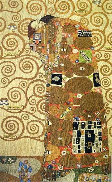 Gustav Klimt cartoon-for-the-frieze-of-the-villa-stoclet-in-brussels-fulfillment-1909.jpg!HD [1280x768]