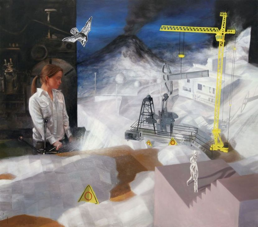 Construction site. 228x200cm. Oil and mixed media on canvas. (2009)