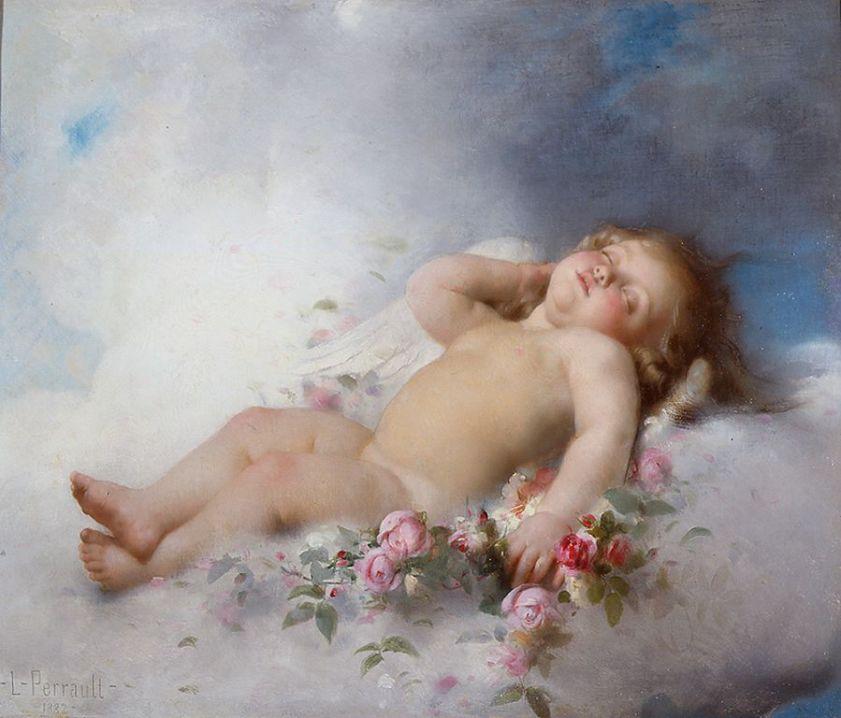 Léon Perrault  Putto-endormi-1882-Leon-Perrault [1280x768]