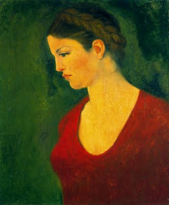Aristide Maillol  -Dina à la robe rouge, 1940