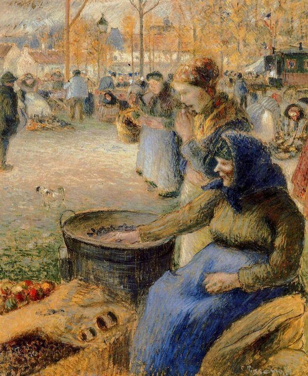 Camille Pissarro   La-Marchande-de-Marrons-Fiore-de-la-St-Martin-Pontoise [1280x768]