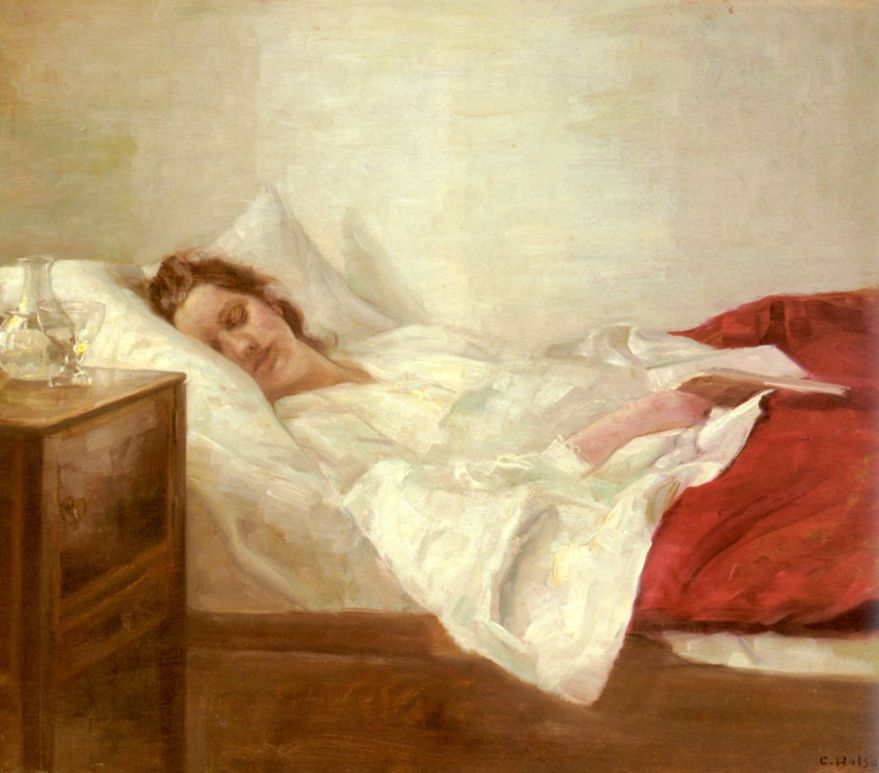 Carl Vilhelm Holsoe Asleep