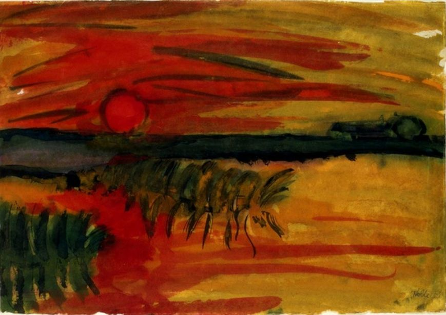 Emil Nolde  sunset [1280x768]