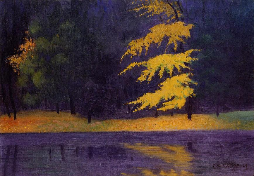 Félix Vallotton the-lake-in-the-bois-de-boulogne-1921