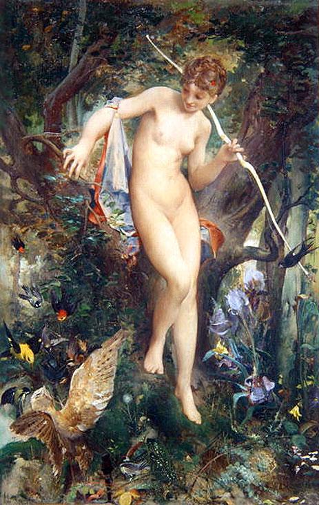 Luc-Olivier Merson Diane chasseresse-1878