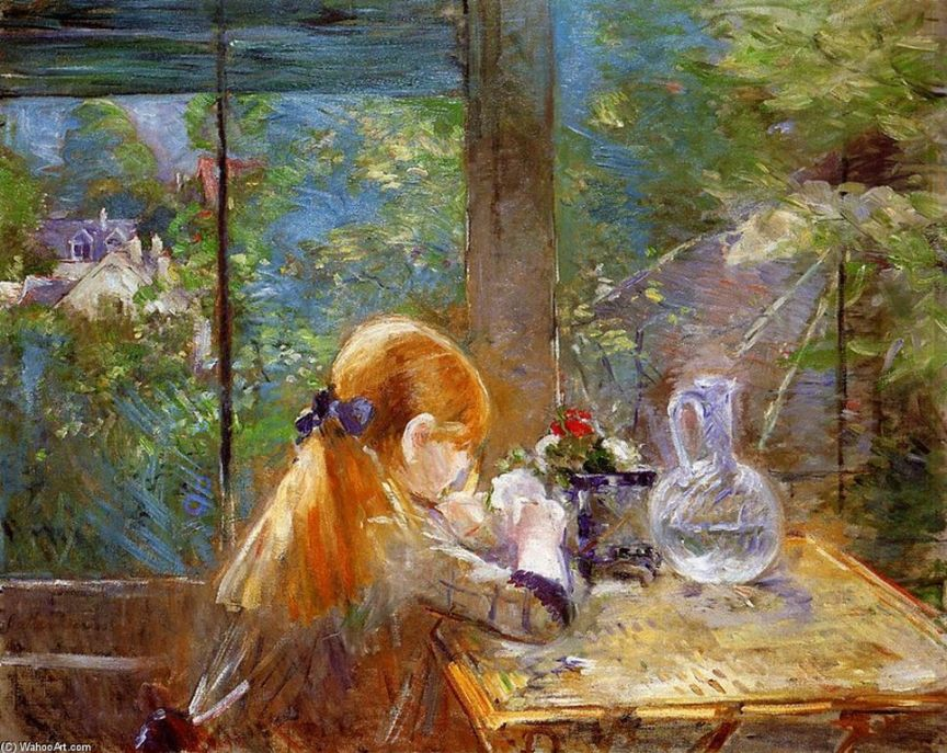 Berthe Morisot -ON-THE-VERANDA [1280x768]