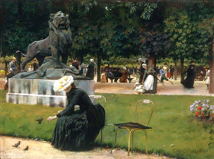 Charles Courtney Curran  In-the-Luxembourg-Garden-Charles-Courtney-Curran-1889-Terra-Foundation-for-American-Art