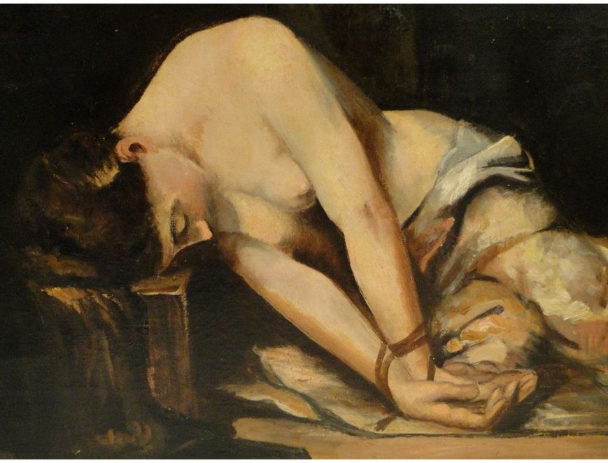 peinture-femme-ligotee-prison-ecole-italienne-19e [1280x768]
