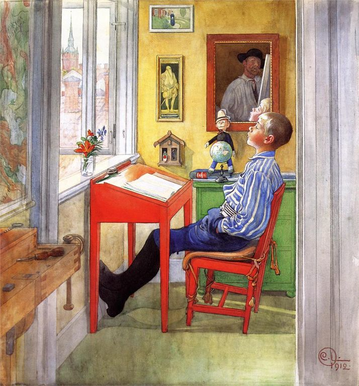 Carl Larsson esbjorn-doing-his-homework(1).jpg!HD [1280x768]