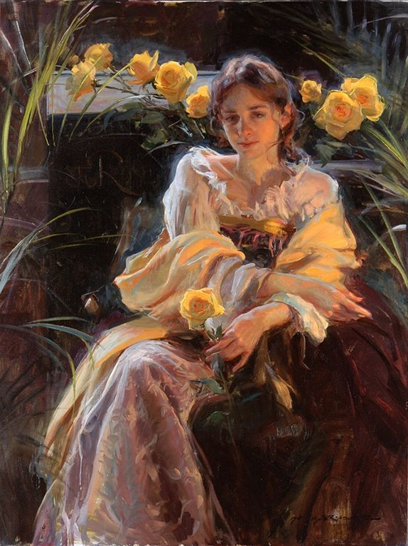 Daniel F. Gerhartz - Ladies and flowers  - T   (39) [1280x768]