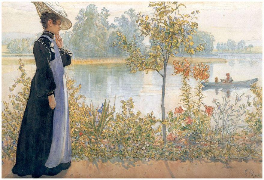 Carl Larsson  karin-on-the-shore(1) [1280x768]