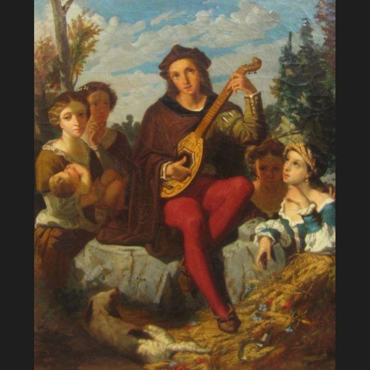 Jean-Marie Melchior Doze-le-joueur-de-mandoline-tableau [1280x768]