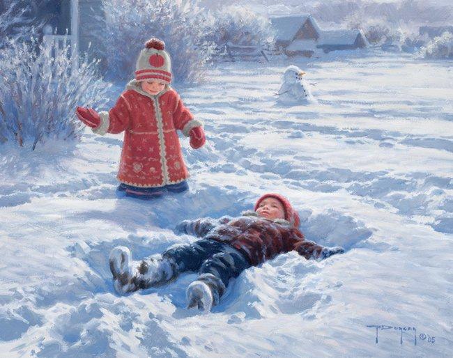 Robert Duncan enfants neige 95
