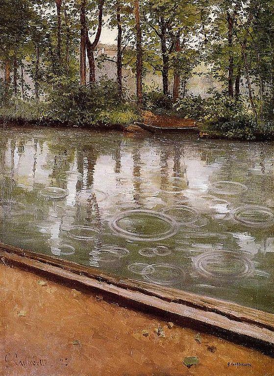 Gustave Caillebotte  -« L'Yerres, la pluie » [1280x768]