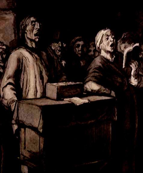 Honoré Daumier _gravure joueur d'Orgue