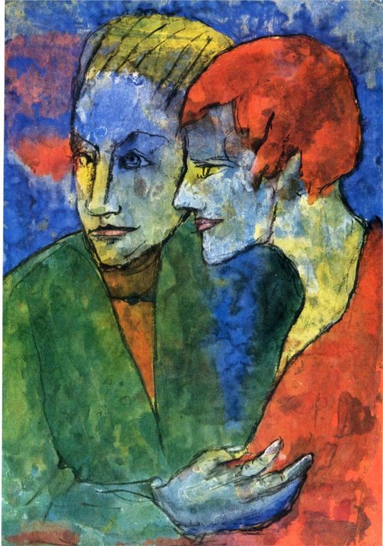 Emil Nolde young-couple-1935.jpg!HD [1280x768]
