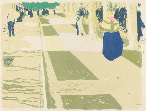 Edouard Vuillard 1899 The Avenue lithograph