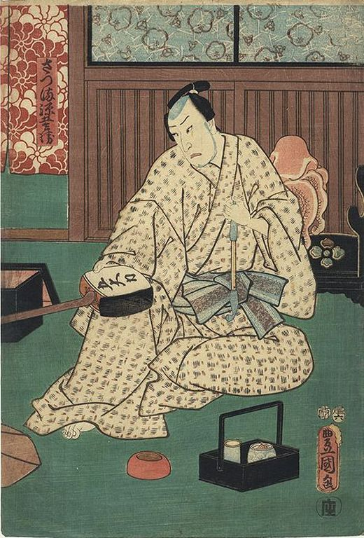 Kunisada samourai shamisen G [1280x768]