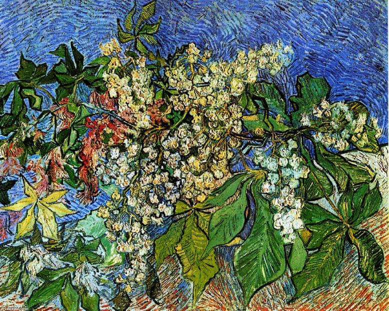 Vincent Van Gogh -Blossoming-Chestnut-Branches
