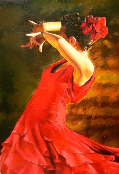 Alexey Slusar 1961- Ukrainian painter - Flamenco dancers - Tutt'Art@ (4) [800x600]