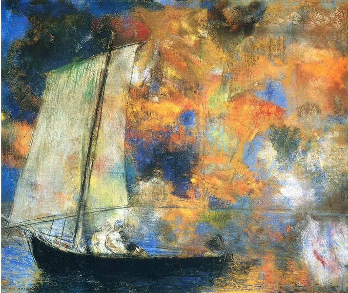 Odilon Redon  flower-clouds-1903 [800x600]