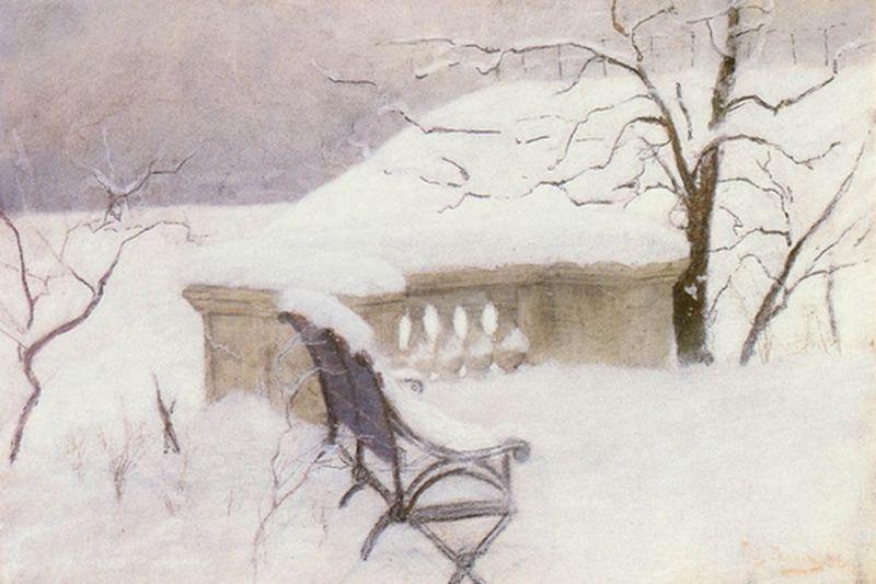Frits Thaulow neige champ [800x600]