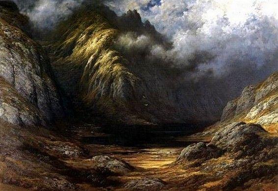 Gustave Doré Lac en Ecosse après l'orage