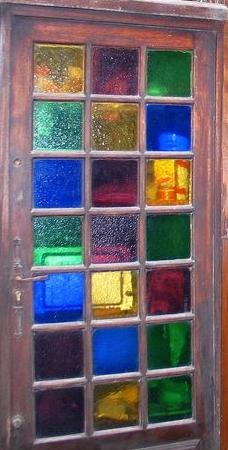 porte colorée