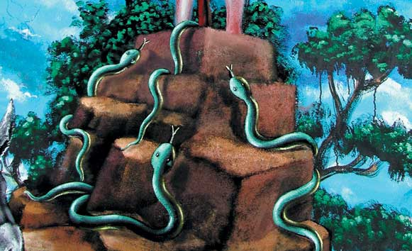 serpent-peinture